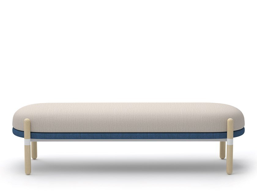 Sitzbank aus Stoff ohne Rückenlehne CAPSULE BENCH | Sitzbank ohne Rückenlehne by Casala