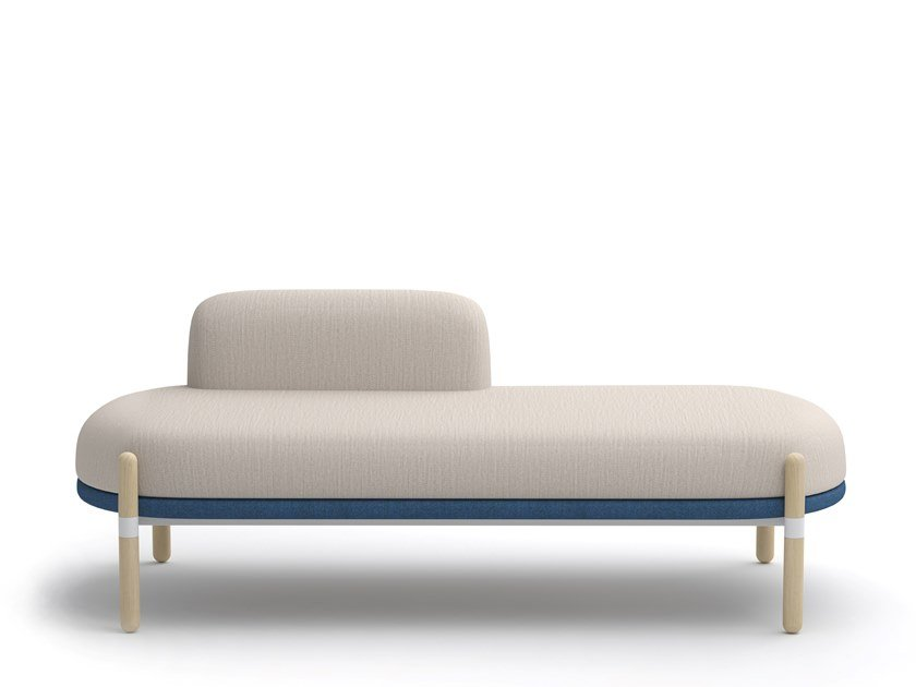 Sitzbank aus Stoff mit Rückenlehne CAPSULE BENCH   Sitzbank mit Rückenlehne by Casala