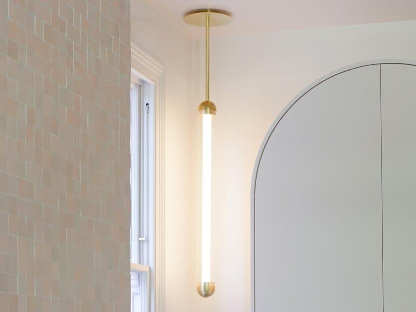 LED powder coated aluminium pendant lamp CAPSULE ALAS by Cameron Design House