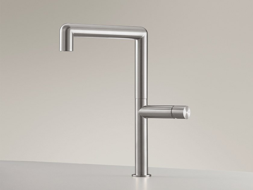Deck mounted mixer with swivelling spout CAR 01 by Ceadesign