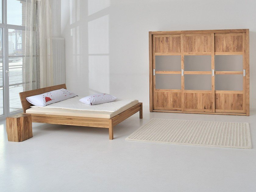 Letto matrimoniale in legno massello CARA By Vitamin Design design ...