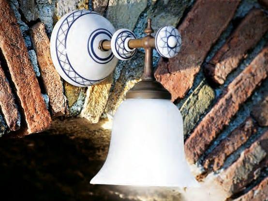 Glass wall lamp with fixed arm CARACOI | Wall lamp by Aldo Bernardi