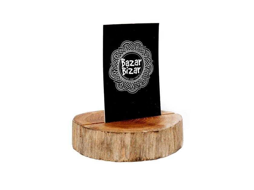 Teak display unit CARD HOLDER by Bazar Bizar