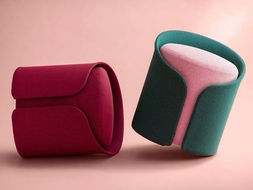Round fabric pouf CARDIGAN by La Manufacture du Design