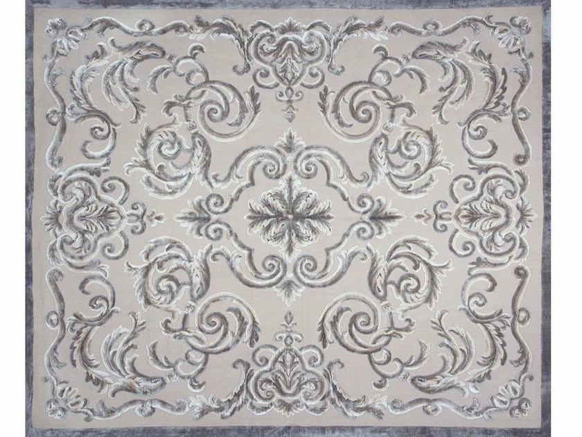 Patterned rectangular rug CARDINAL NATUREL FICELLE by EDITION BOUGAINVILLE