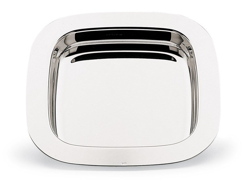 Square silver palted tray CARDINALE | Square tray by RINO GREGGIO ARGENTERIE
