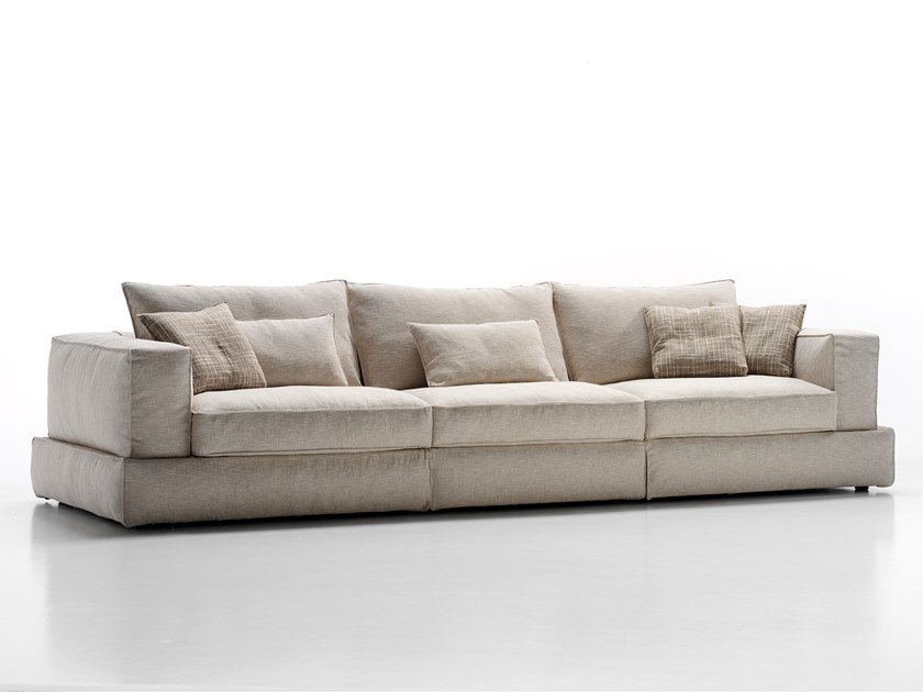 Sectional fabric sofa with removable cover CARESSE | Fabric sofa by ESTEL GROUP