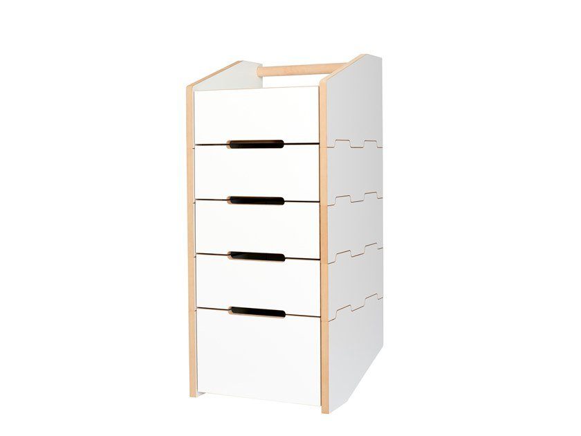 Sectional MDF chest of drawers CARGO by Tojo Möbel