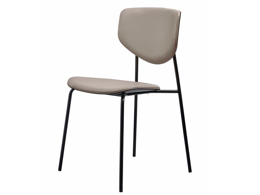 Cadeira empilhável de pele CARISTO   Cadeira de pele by SP01