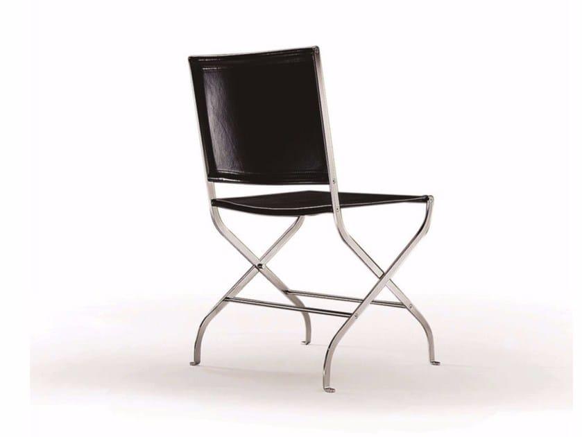 Leather chair CARLOTTA | Chair by FLEXFORM