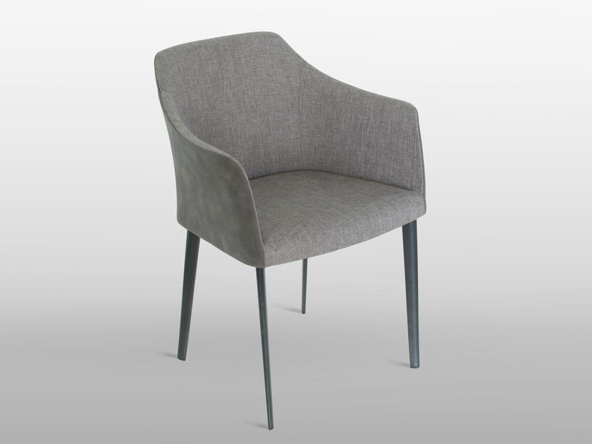 Upholstered fabric chair with armrests CARMEN by RIFLESSI