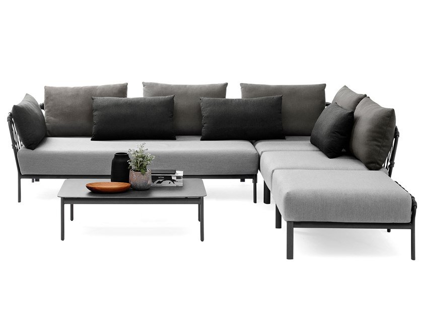 Corner sectional garden sofa CARO | Corner garden sofa by solpuri