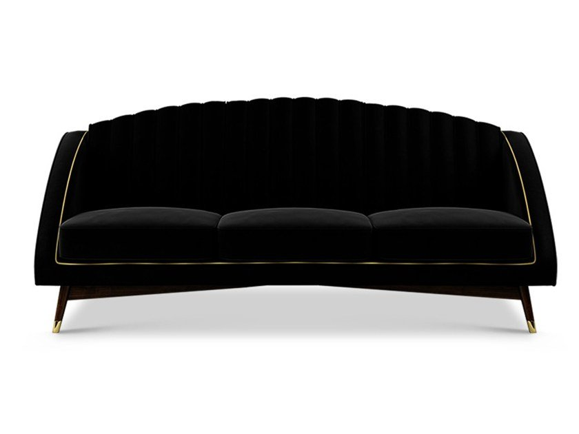 3 seater velvet sofa CAROLE by Ottiu