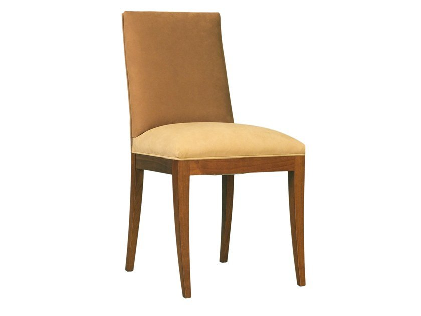 Upholstered cherry wood chair CAROLINE by Morelato