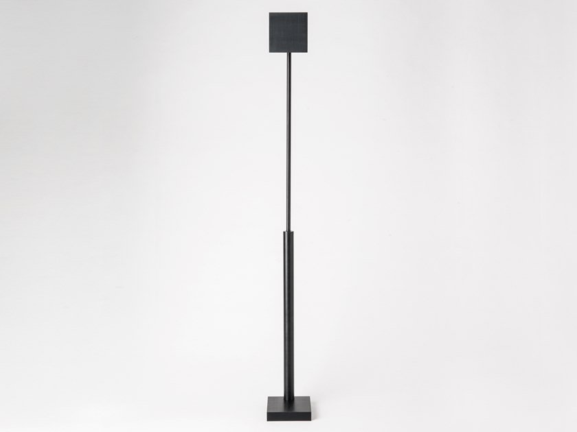 LED Anodized aluminium floor lamp cordless CARRÉ | Floor lamp cordless by HISLE