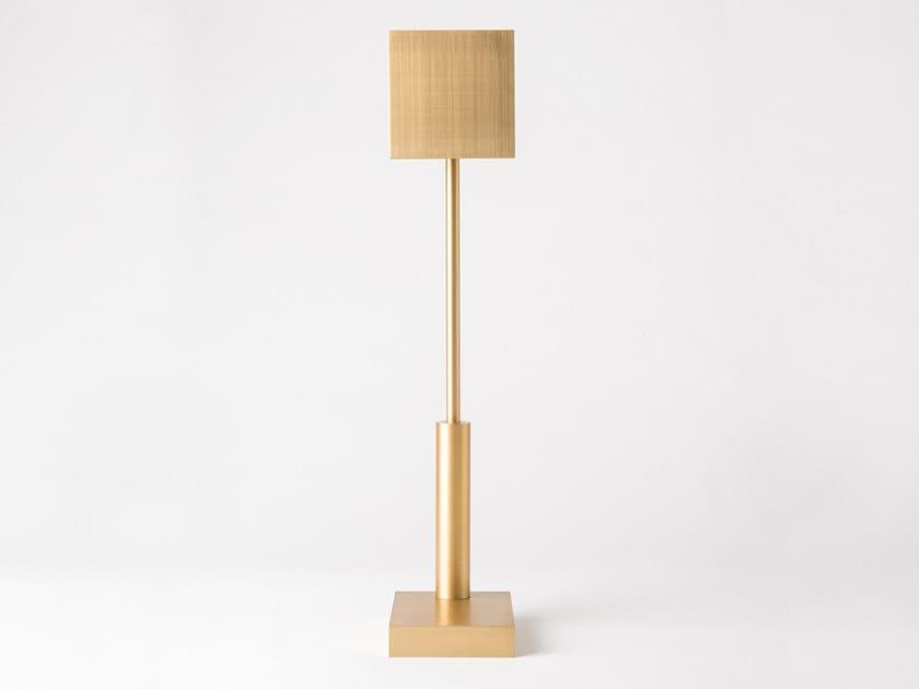 LED cordless Anodized aluminium table lamp CARRÉ | Cordless table lamp by HISLE