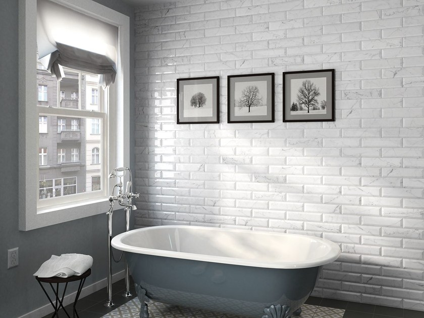 Ceramic Wall Tiles With Marble Effect Carrara By Equipe Ceramicas