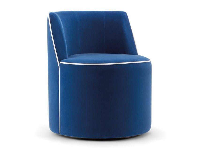 Swivel fabric armchair CARRIE by Tirolo