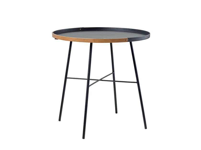 Lacquered steel side table CARRY ON | Steel coffee table by Bolia