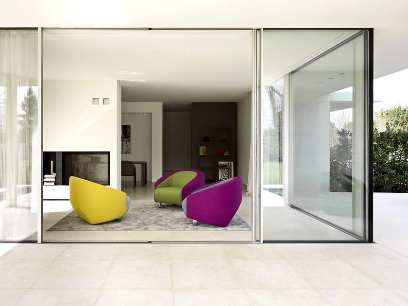 Fabric armchair with armrests CART | Armchair by Ditre Italia