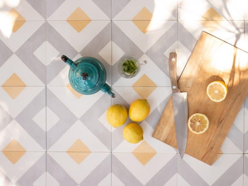 Handmade cement wall/floor tiles CARTAGENA by Suddart