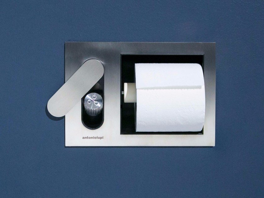 Toilet roll holder / toilet-jet handspray CARTASENSO by Antonio Lupi Design