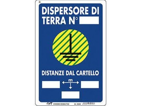 CARTELLO DISPERSORE DI TERRA