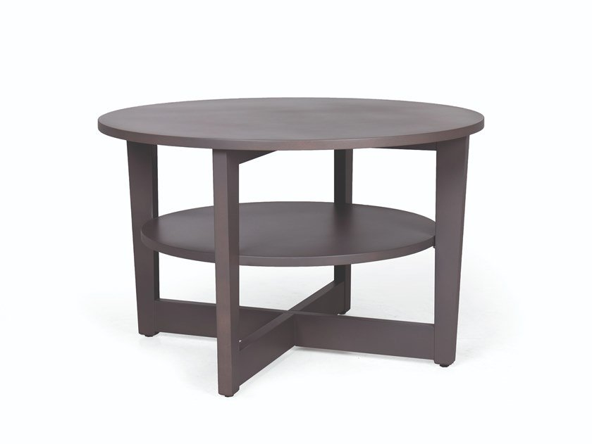 Round wooden coffee table CARTER 100 by Fenabel