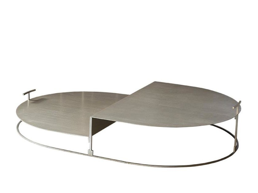 oval steel coffee table cartesio 120x80 by casamilano design pietro russo oval steel coffee table cartesio 120x80