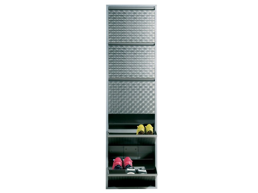 Steel shoe cabinet CARUSO SILVER by KARE-DESIGN