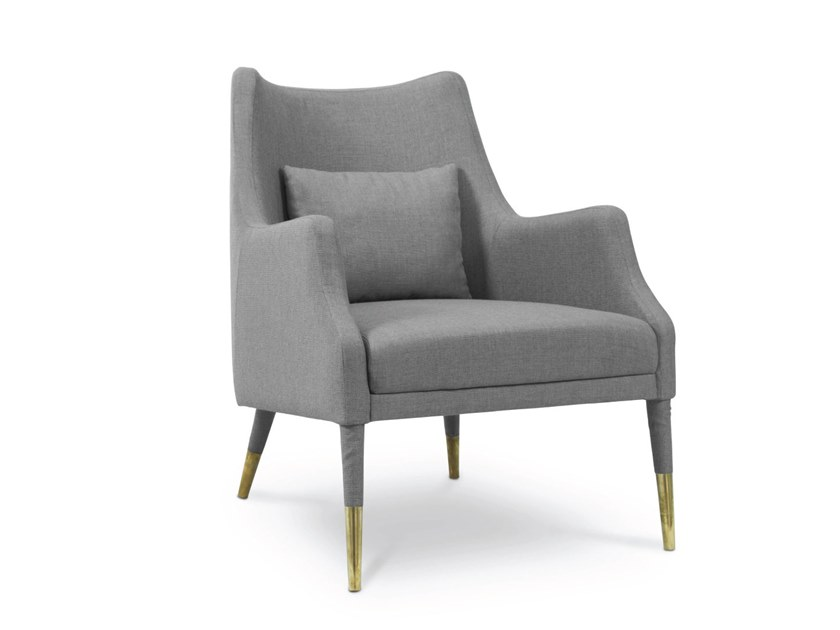 Fabric armchair with armrests CARVER | Armchair by Delightfull