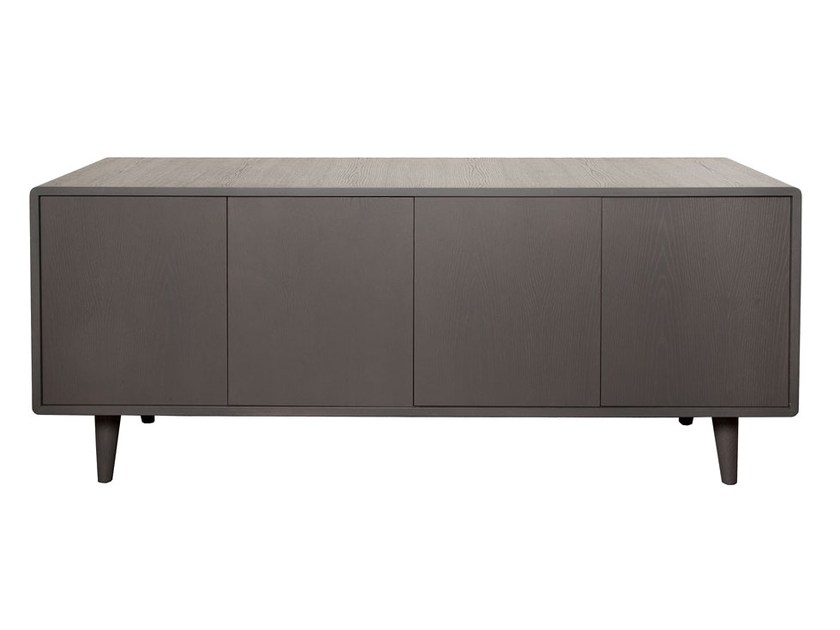 Wood veneer sideboard with doors CARVOEIRO | Sideboard by Branco sobre Branco