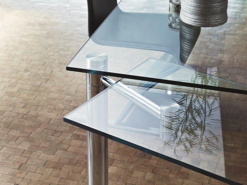Tavolo allungabile da pranzo rettangolare in vetro casanova draenert