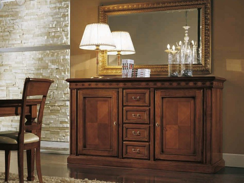 Solid wood sideboard with doors CASANOVA | Sideboard by Arvestyle