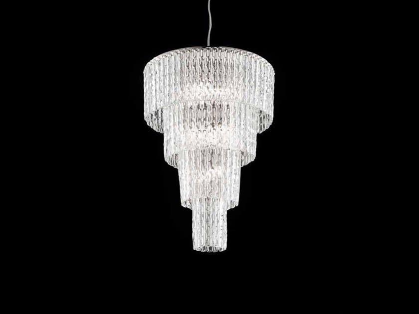 Lampada a sospensione in cristallo CASCADE 46 by Euroluce Lampadari