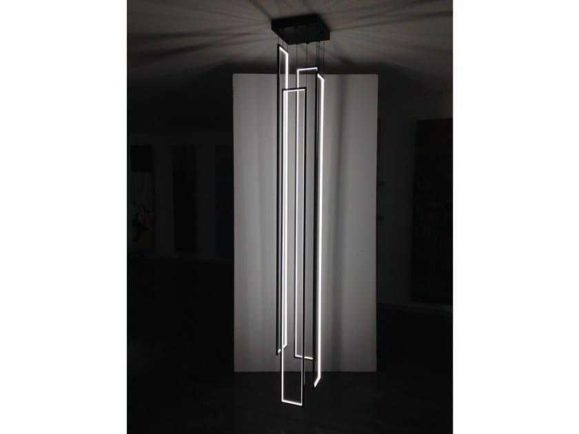 LED indirect light steel pendant lamp CASCADE MIRÉ - 4 by Cinier