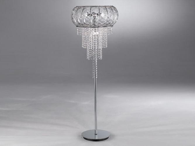 Lampada da terra in vetro di murano cascata sp 366 collezione