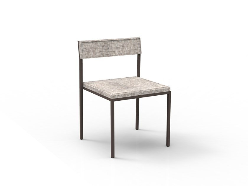 Stackable garden chair with integrated cushion CASILDA | Chair by Talenti