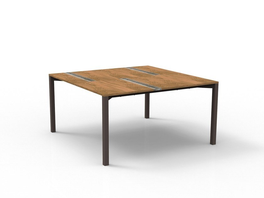 Square wooden garden table CASILDA | Square table by Talenti