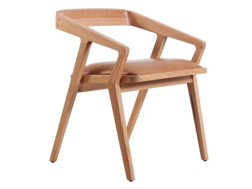 Beech chair with integrated cushion CASILLA | Beech chair by ALANKARAM