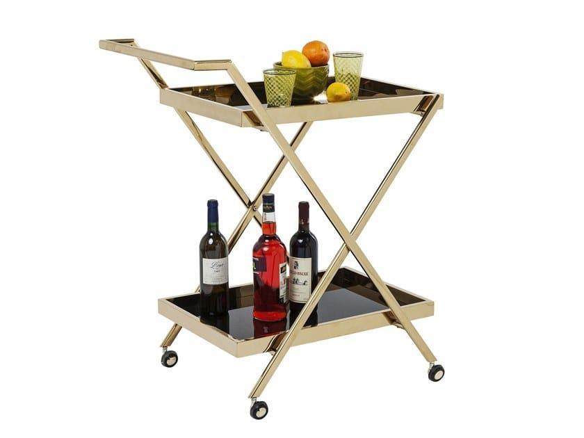 Steel drinks trolley CASINO GOLD by KARE-DESIGN