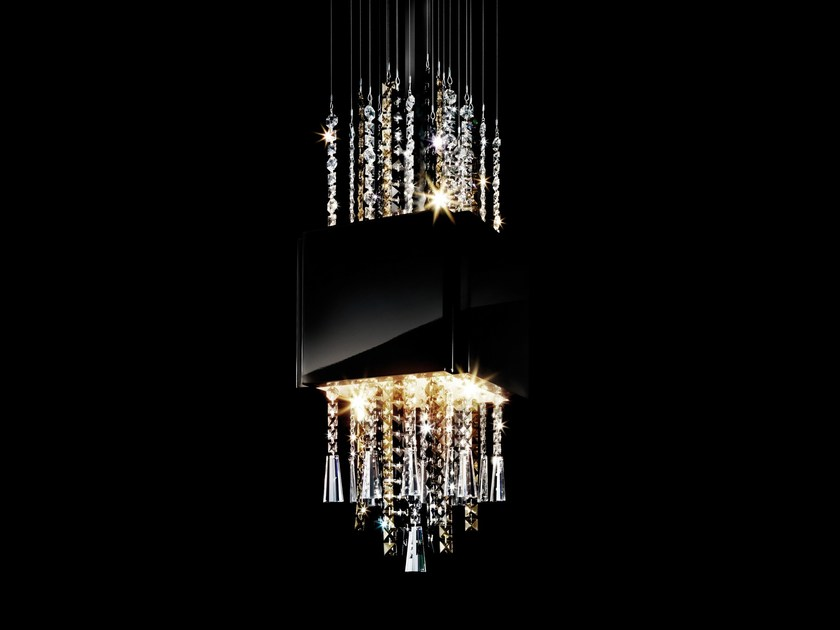LED crystal pendant lamp CASINO ROYALE by Swarovski