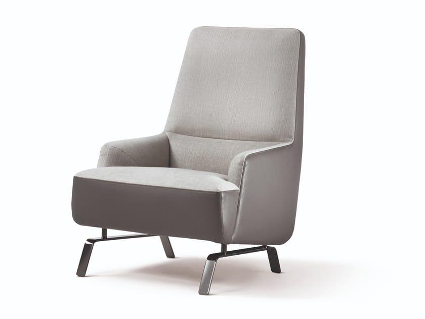 High-back armchair CASSANDRA | Armchair by Busnelli