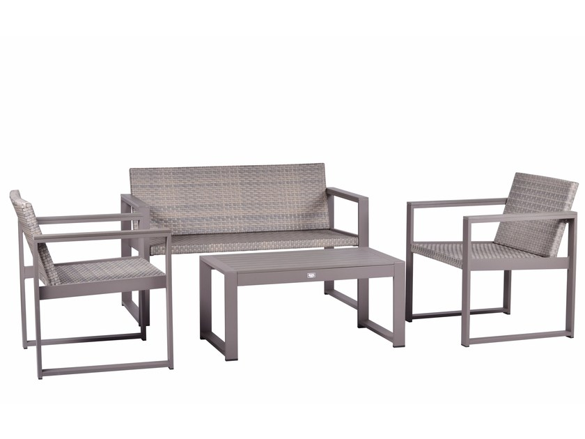 lounge set CASSIA WICKER By Mediterraneo by GPB