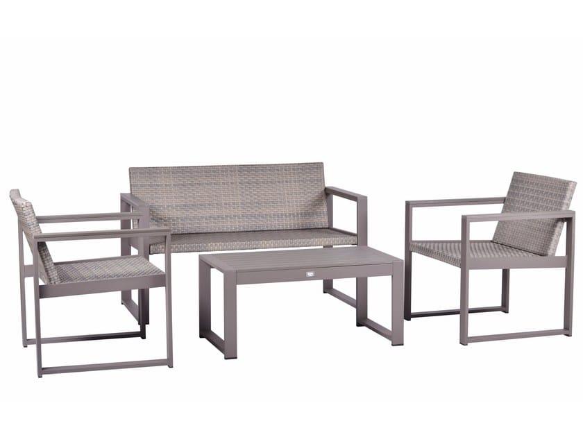Aluminium lounge set CASSIA WICKER by Mediterraneo by GPB