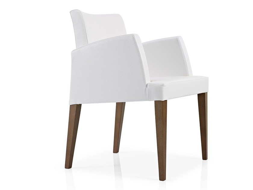 Fabric restaurant chair with armrests CASSIS | Chair with armrests by JMS