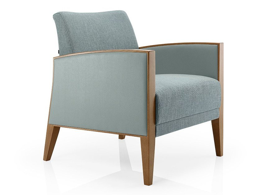 Fabric easy chair with armrests CASSIS | Easy chair by JMS