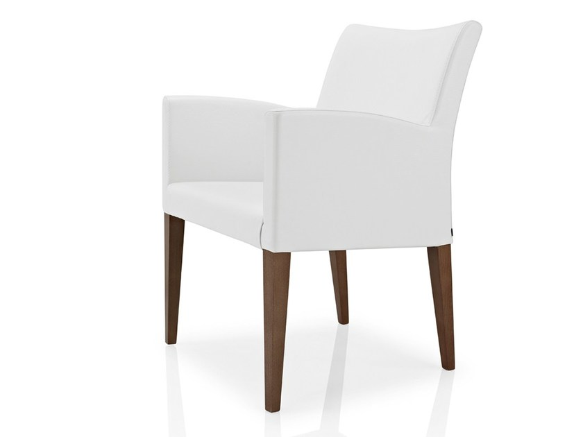 Fabric chair with armrests CASSIS by JMS