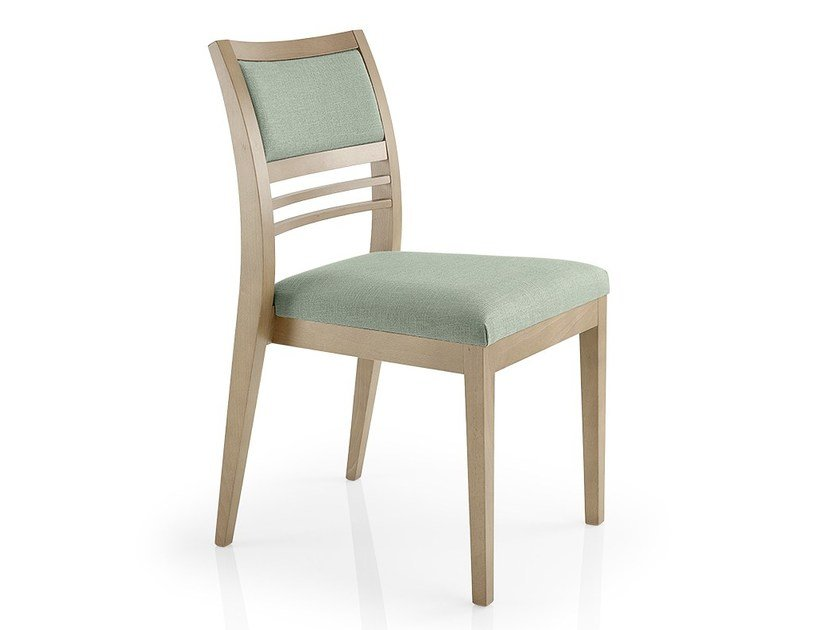 Open back leather chair CASSIS | Fabric chair by JMS