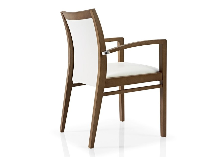 Fabric restaurant chair with armrests CASSIS | Restaurant chair by JMS